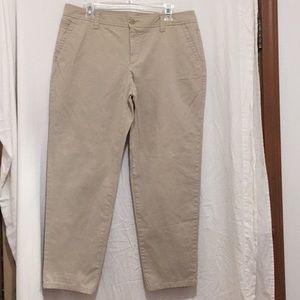 Liz Claiborne Size 14 tan crop pants EUC